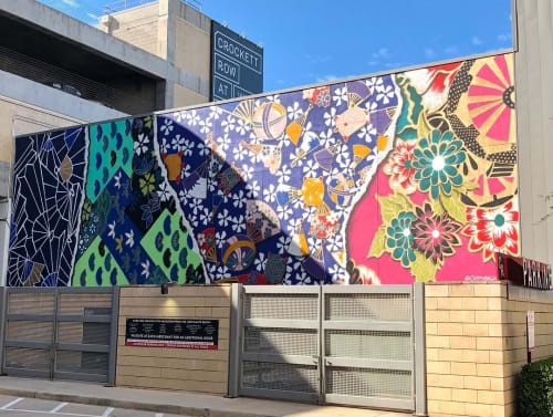 Street Murals by Chris Bingham seen at Crockett Row at West 7th, Fort Worth - Tomeko's Pretty Paper