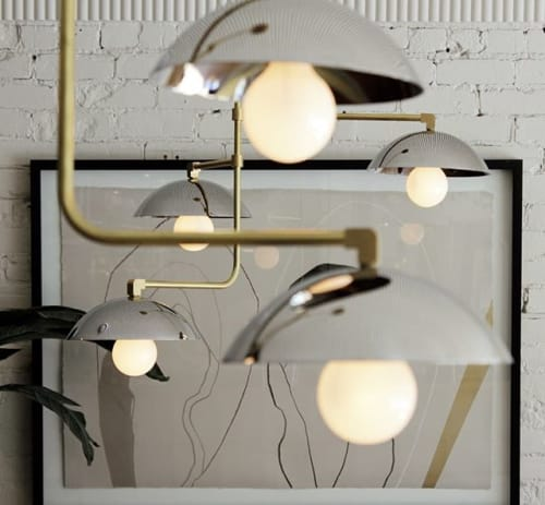 Chandeliers by Deschênes Lighting / Luminaire seen at Private Residence, Montreal, Montreal - LUMINAIRES JOSEPHINE CHROME