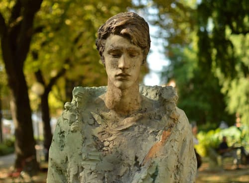 Public Sculptures by Eudald De Juana Gorriz seen at Faenza, Faenza - Pieces of thoughts