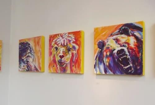 Paintings by Karin McCombe Jones seen at Thistle Hall Community Venue, Wellington - Painting