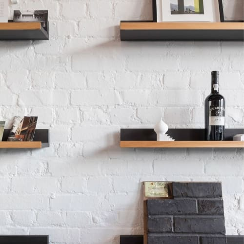 Furniture by Gavin Coyle Studio seen at Stow Brothers, London - Hanging Shelves and custom desk