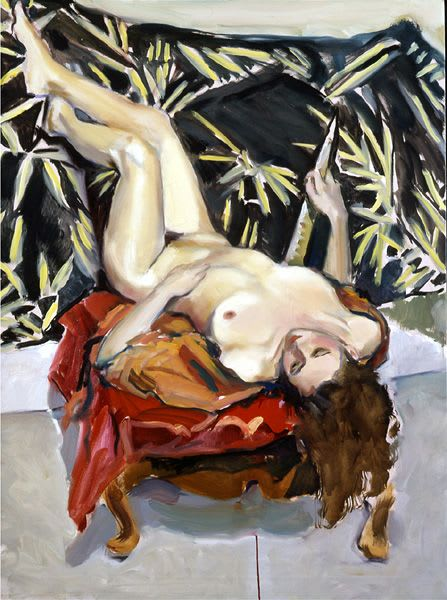 Paintings by Audrey Frank Anastasi seen at Private Residence, Roxbury - Redhead