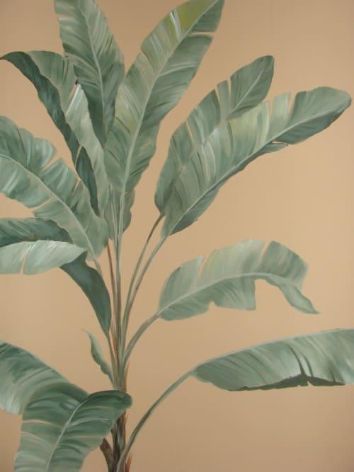 Palm tree mural   Murals by Sheila Rae Van Delft