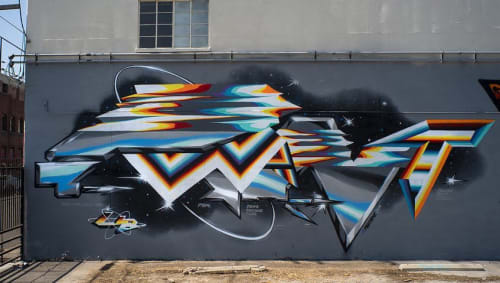 Street Murals by Yanoe seen at The Container Yard, Los Angeles - Mural