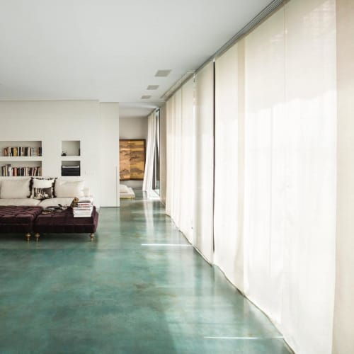 Curtains & Drapes by ÁBBATTE seen at Private Residence, Madrid - Silk Blinds