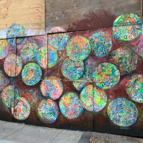 Murals by Renee DeCarlo seen at 3985 24th St, San Francisco - Reflections