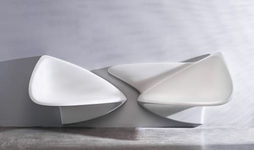 Sculptures by Yan Huang Artist. Designer seen at Private Residence, Melbourne - Embrace