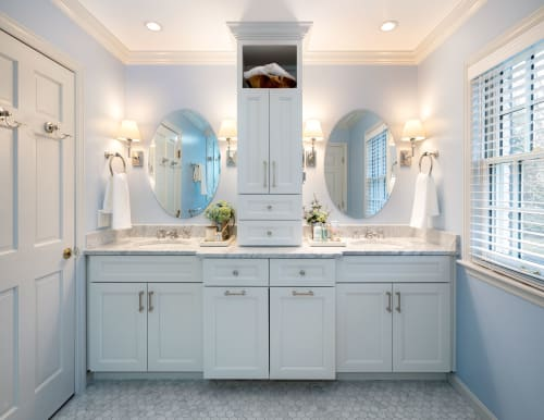 Interior Design by Christine Kommer, Surround Design LLC seen at Private Residence, Cincinnati, Cincinnati - Refreshed Master Bathroom
