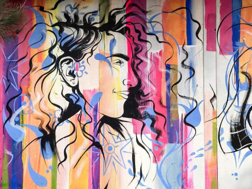 Street Murals by Roy The Rat seen at Sunset Plaza Liquor and Jr Market, Santa Monica - Wall Mural