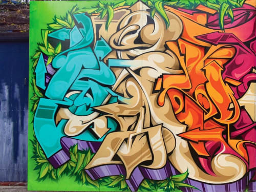 "Street Murals by Epick One seen at Melbourne, Melbourne - Oktopus ""Jungle Funk"""