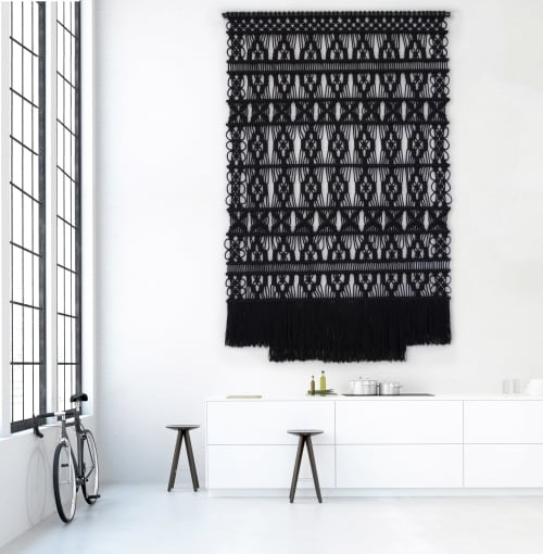 Art & Wall Decor by Milla Novo seen at Creator's Studio - Black wallhanging 180cm x 300cm