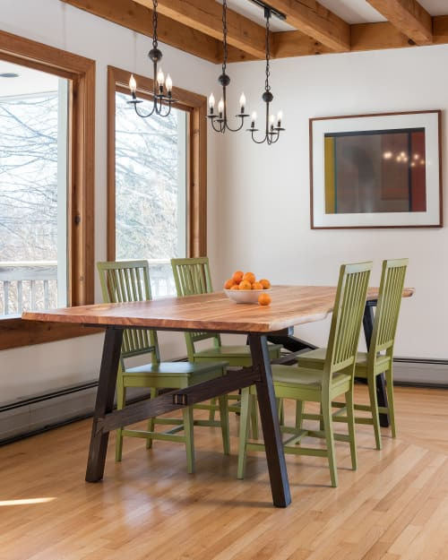 Tables by Ogelby Woodworks seen at Private Residence, Waterbury - Heritage Dining Table