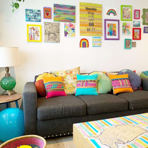 Pillows by Girl with a Radio Mind seen at Kim LaPlante - Dig and Hang - Boho Throw Pillows