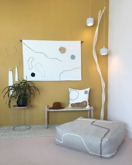 Wall Hangings by Cindy Hsu Zell seen at Los Angeles, Los Angeles - Brass and Fiber