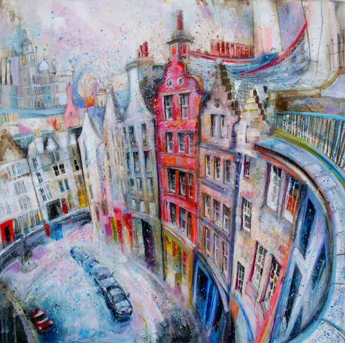 Paintings by BLYTHE SCOTT seen at Private Residence, Edinburgh - 'Around the Bend'