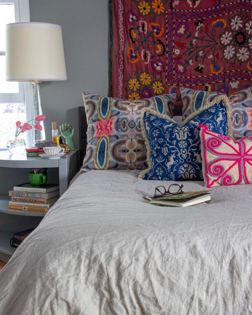 Linens & Bedding by Amanda M Moody seen at Private Residence, Weddington - labyrinth textiles by the yard