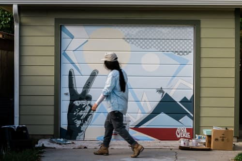 Street Murals by April Werle seen at Private Residence, Missoula - Rimel Residence
