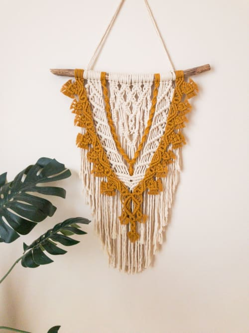 Macrame Wall Hanging by Tying The Knots By Dakota seen at Private Residence, Darwin - Macrame Wall Hanging