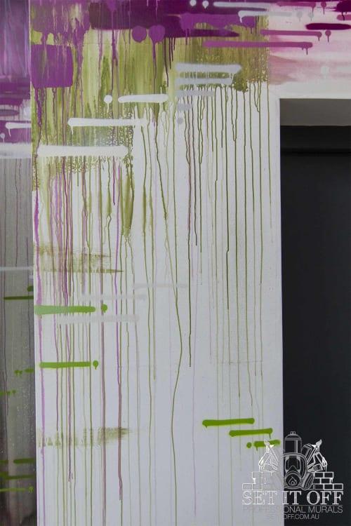 Murals by Set It Off Murals seen at Walk The Walk, Woking - Walk the Walk Interior Mural Feature