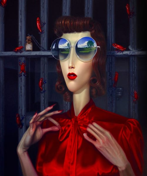"Paintings by Troy Brooks seen at Private Residence, Toronto - ""Out of Your Eclipse"""