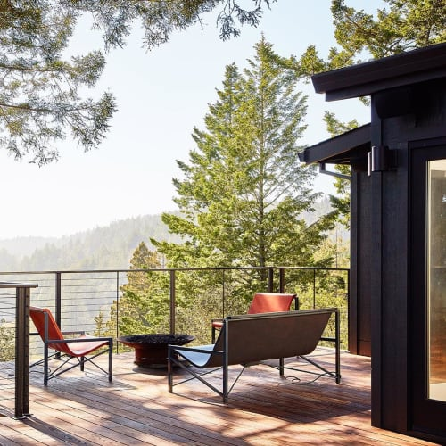 Chairs by Galanter & Jones seen at Private Residence, Sonoma - Evia Lounge & Evia Chairs