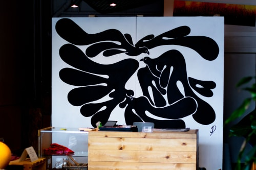 Murals by Johnny Draco seen at Lawrence + Larimer Clothing + Supply Co., Denver - Community Mural