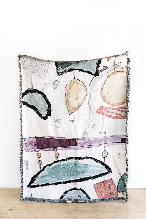 "Linens & Bedding by K'era Morgan seen at Creator's Studio, Los Angeles - ""Bowie"" Throw Blanket"