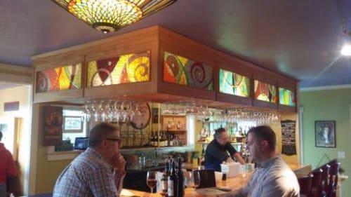 Art & Wall Decor by JK Mosaic, LLC seen at Swing Wine Bar, Olympia - Illuminated Mosaic Panels
