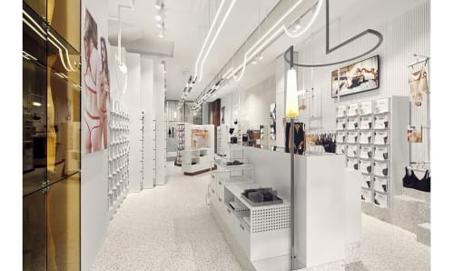 Interior Design by Studio Modijefsky seen at Wolford Boutique Amsterdam, Amsterdam - Interior Design