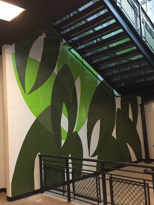 Murals by Michael Moon Studio seen at E Center, Sugar Hill - E Center Mural. Sugar Hill, GA