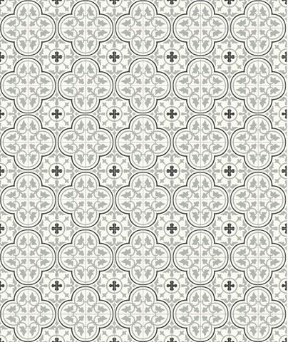 Tiles by Avente Tile seen at Private Residence, Napa - Mission Roseton Clermont Encaustic Cement Tile
