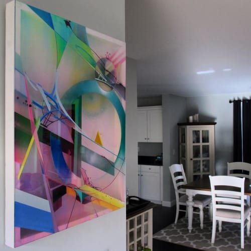 Paintings by Stephen Holding seen at Private Residence - Abstract painting
