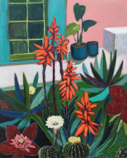 Paintings by Marielle Robichaud seen at Creator's Studio, Montreal - Souvenirs du Mexique