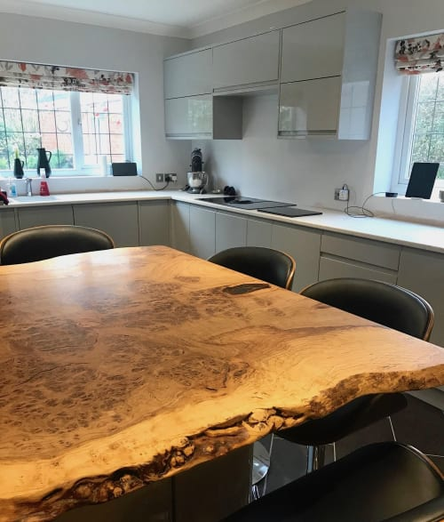 Tables by Raven River Designs seen at Private Residence - Live Edge Kitchen Island