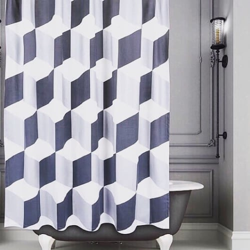 Curtains & Drapes by Siren Song seen at Private Residence, New York - Palazzo Showercurtain