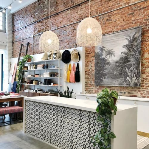 Pendants by Milly and Eugene seen at Salt & Sundry, Washington - Lace Rattan Light