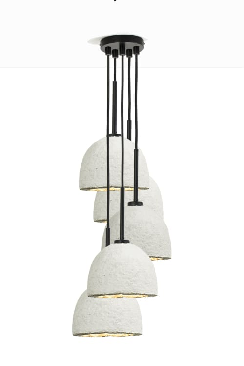 MushLume Stagger Chandelier - 5 Shades | Chandeliers by Danielle Trofe Design