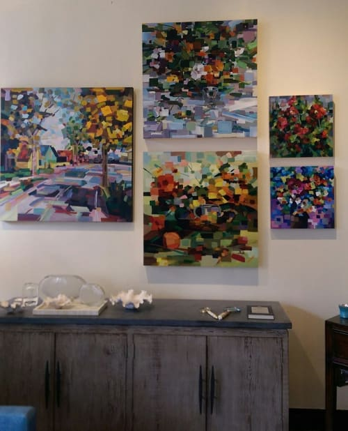 Paintings by Brooke Borcherding Fine Arts at Capers, Seattle - Floral Fever