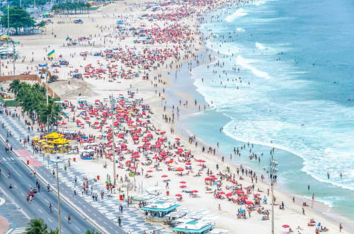 """Photography by Richard Silver Photo seen at Private Residence, Los Angeles - """"Tilt Shift"""" Copacabana Beach"""