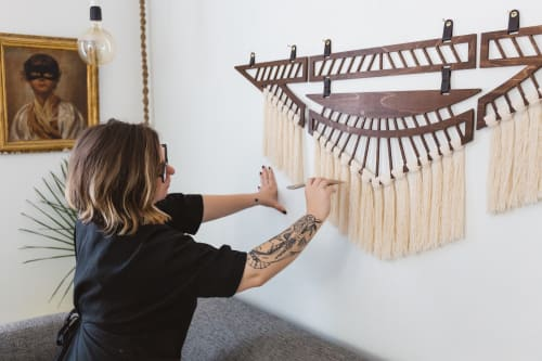 Wall Hangings by Wanderluxe seen at Private Residence, Providence - Thunderbird