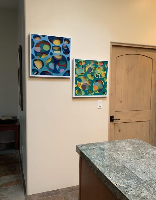 Paintings by Haoyun Erin Zhao seen at Private Residence, Santa Fe - Maze