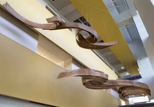 Sculptures by Barbara Cooper seen at Florida Gulf Coast University Library, Fort Myers - Ecotone