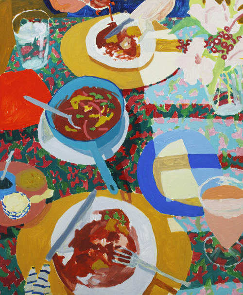 Paintings by Sophie Treppendahl seen at Cape Cod - Breakfast in Oaxaca