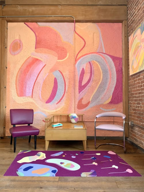 Murals by Caroline Geys seen at Private Residence, Los Angeles - De Olifanten Mural
