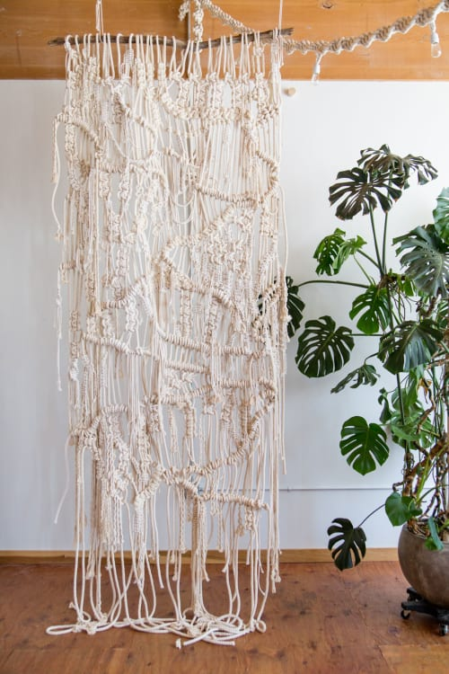 Wall Hangings by Modern Macramé by Emily Katz seen at Private Residence, Portland - Staircase