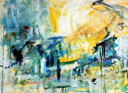 Paintings by Marie Manon Art seen at 1451 Paseo Ladera Ln, Arroyo Grande - California Sun