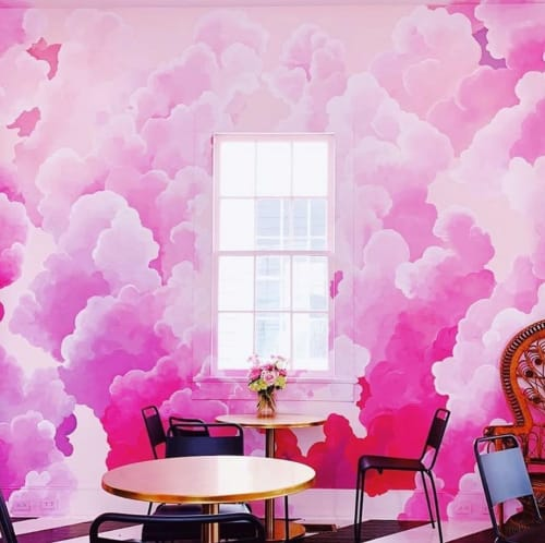 Murals by Miss Hein Art seen at Drink Beauty, New Orleans - CLOUDSCAPE 1