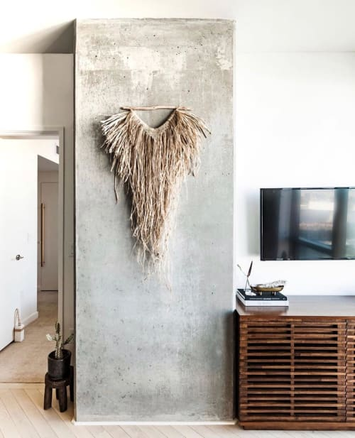 Macrame Wall Hanging by roundnine9 seen at Private Residence, Los Angeles - Imani Raffia Wall Hanging