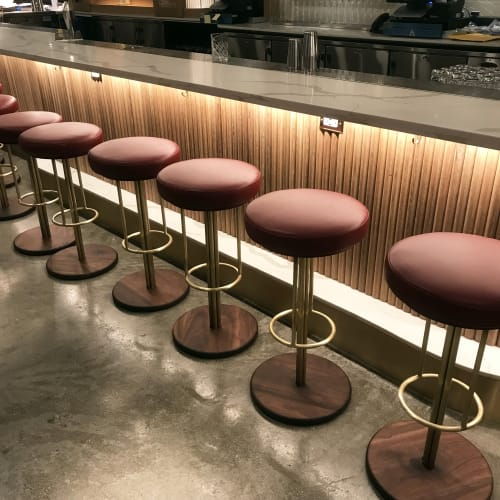 Chairs by Crump & Kwash seen at Unconventional Diner, Washington - Custom INEZ Barstools by Crump and Kwash