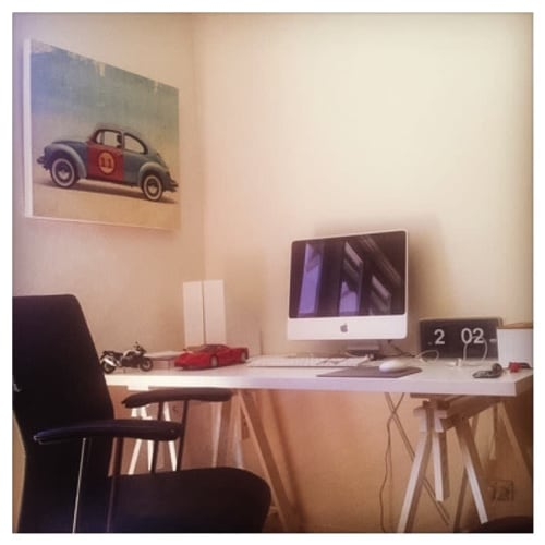 Wall Hangings by Vin Zzep - Independant Art seen at Private Residence, Melbourne - Volkswagen Beetle Print